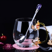 1 piece Fashion heat resistant enamel cup gift set/ Household water cup fruit juice cup/ Creative Send gift to friends and lover