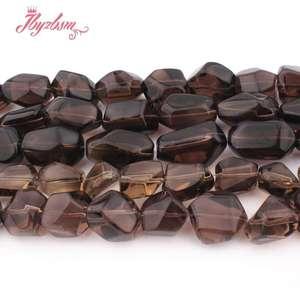 "Image 2 - 12x16 15x20 13x20 15x25mm Freeform Smokys Quartz Bead Natural Stone Beads For Necklace Bracelat Jewelry Making 15"" Free Shipping"