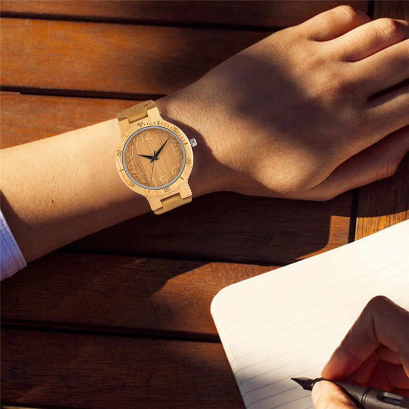 2017 ใหม่สไตล์ FishEye Dial นาฬิกาไม้สำหรับผู้ชายผู้หญิงไม้ไผ่ Analog นาฬิกาผู้ชาย Unisex Relojes Hombre with ของขวัญกระเป๋า