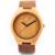 Natural De Madeira De Bambu dos homens Relógio Com Couro Do Couro Genuíno Amantes Relógios Para Presentes de Luxo Customed