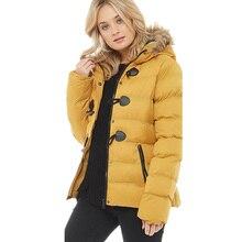 ZOGAA Winter Parkas Women Fur Collar Coats Jackets Slim Hooded Coat Medium-Long Thick Warm Wadded Jacket Outwear Horn Button цена 2017