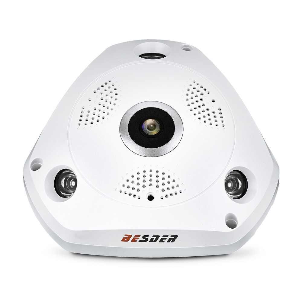 BESDER 3D VR камера 360 градусов панорамная ip-камера 960 P 1.3MP рыбий глаз беспроводная Wi-Fi камера IP SD слот для карт Multi Режим просмотра