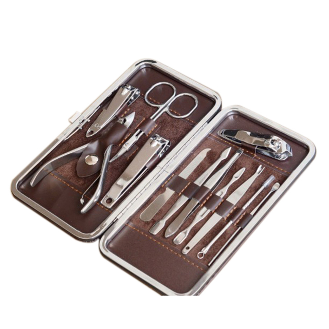 1 Set 12pcs * Nail Manicure Set Nail Knife Set Cosmetic Manicure Kit ...