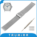 16mm 18mm 20mm 22mm Milanese Watch Band for Longines L2 L3 L4 Master Flagship Conquest Stainless Steel Strap Wrist Belt Bracelet