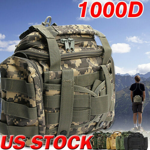 New Tackle Bag Storage Waist Shoulder Waterproof Saltwater Tactical Hunt Camouflage Fishing Tackle Bag Waist Packs Chest Bag