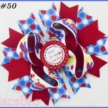 30 шт. 5 '' новейший символ волосы луки школьные банты для волос патриотический бант аксессуары для волос клипсы модные аксессуары