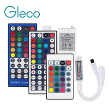 DC12V Mini LED controller RGB RGBW Controller 24key 44Key 40Key IR/17Key RF Remote for LED strip Light 3528 5050 RGB RGBW RGBWW(China)