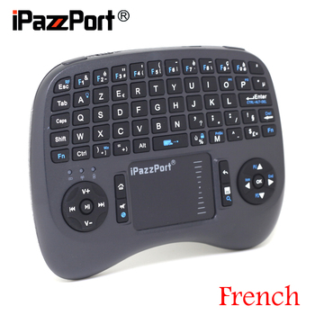[Free DHL] iPazzPort(21TL) 2.4G Mini Wireless French Keyboard+Air Mouse+TouchPad Built-in Backlight High Quality- 30pcs