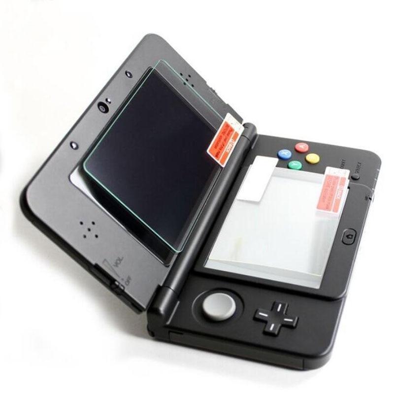 Верхняя защитная пленка из закаленного стекла для ЖК-экрана + нижняя прозрачная защитная пленка для домашних животных для Nintendo Small New 3DS Console