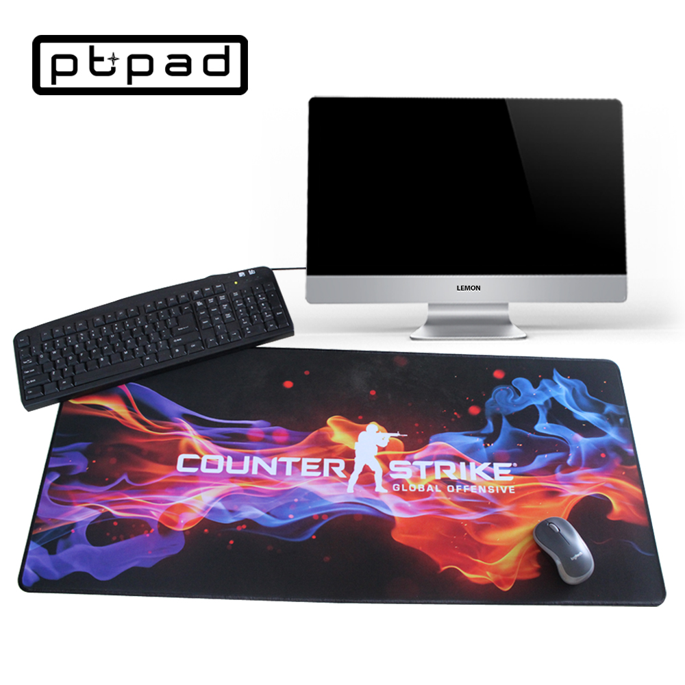 Pbpad store cs go gaming mouse pad notebook computer Print locked edge non slip laptop rubber