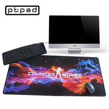 Pbpad store cs go gaming mouse pad notebook computer Print locked edge non-slip laptop rubber mouse mat for player design