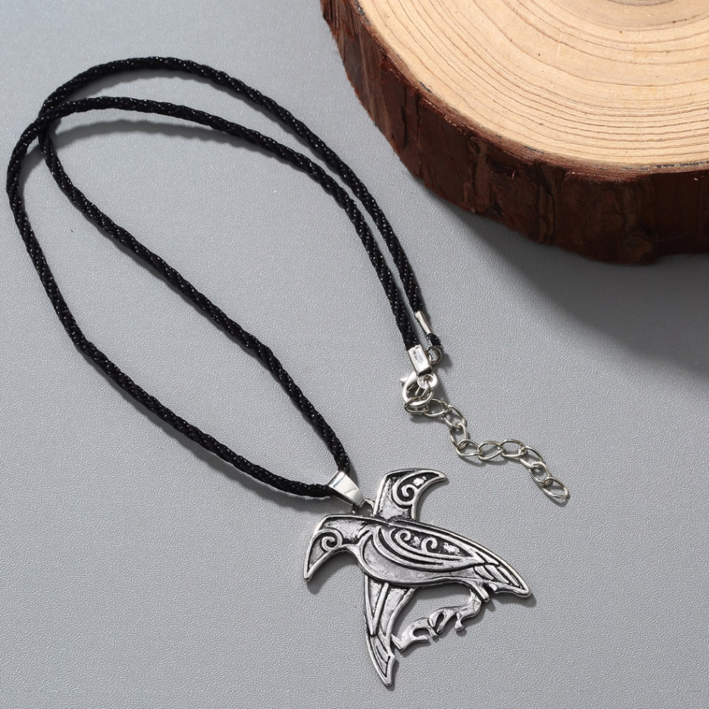 Chandler brand odins ravens bird talisman pendant necklace norse chandler brand odins ravens bird talisman pendant necklace norse viking mythology jewelry do the old classic mens spirit colier in pendant necklaces from biocorpaavc