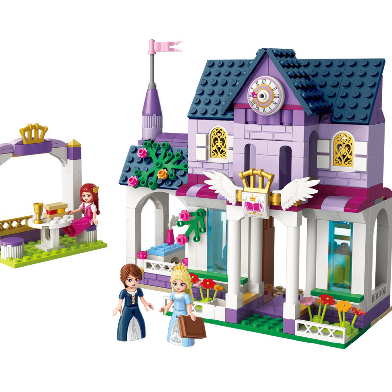 423Pcs Bricks Emma House With 3 Pcs Figures Villa Compatible Legoings Friends For Girl Hotel Building Blocks Gifts Toys DBP372 lepin 01040 friends girl princess series 514pcs building blocks toy snow resort chalet kids bricks toy girl gifts legoings 41323