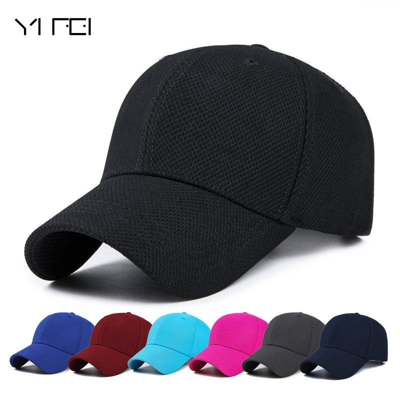 YIFEI Casual Quick Dry  Snapback Men Full Cap Hat Baseball Running Cap Sun Visor Bone Casquette Gorras 2017 New Polo Hat