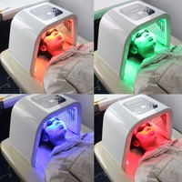 4 Colors Facial Skin Care Device Beauty Instrument Electric Face Tightening Whitening Lifting Phototherapy Spectrometer PDT/LED