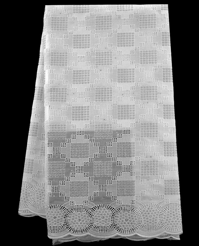 Envío libre (5/pc) alta calidad suiza del cordón en blanco tela ...