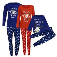 Chất lượng cao gia đình giáng sinh đồ ngủ 2018 phù hợp với gia đình giáng sinh đồ ngủ Năm Mới của sản phẩm trẻ em bé quần áo trẻ em boy