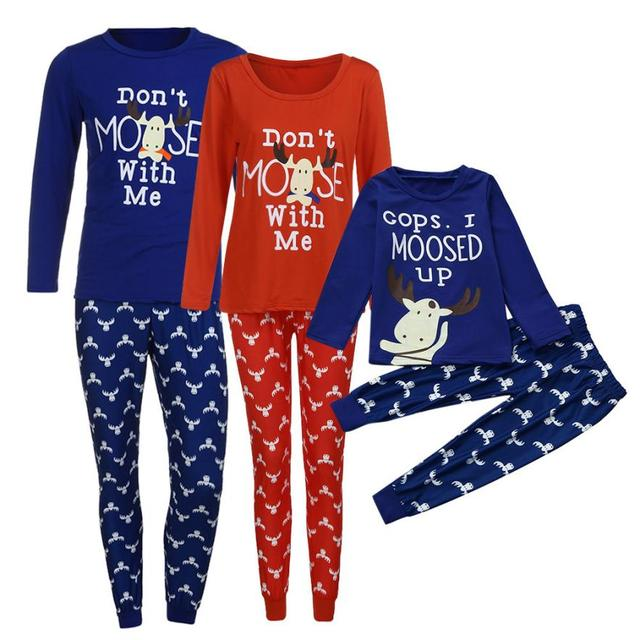 0973f2dfec4c Christmas Moose Family Matching Pajamas for Father Mother and ...