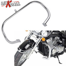 Chrome Highway Crash Bar Engine Guard for Honda Shadow Aero VT 750 750C VT400 2004 2005 2006 2007 2008 2009 2010 2011 Free Ship