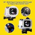 Gopro Lens LED Fill Light Mount Gopro Housing USB Cable Lens Ring Flash Light For Gopro Hero 4 3+ waterproof case Shooting Night
