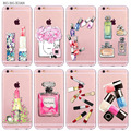 Luxury Perfume Bottle Phone Case For iPhone 6 6S 5 5S SE 6Plus 6sPlus Transparent Soft Silicone Cover