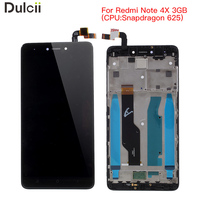 For Xiaomi Redmi Note 4X OEM LCD Screen And Digitizer Assembly Frame Part Black