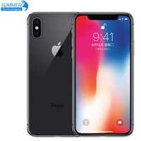 "Unlocked Original Unlocked Apple iPhone X Hexa Core Smartphone Phone 256GB/64GB ROM 3GB RAM Dual Rear Camera 12MP 5.8"" 4G LTE"