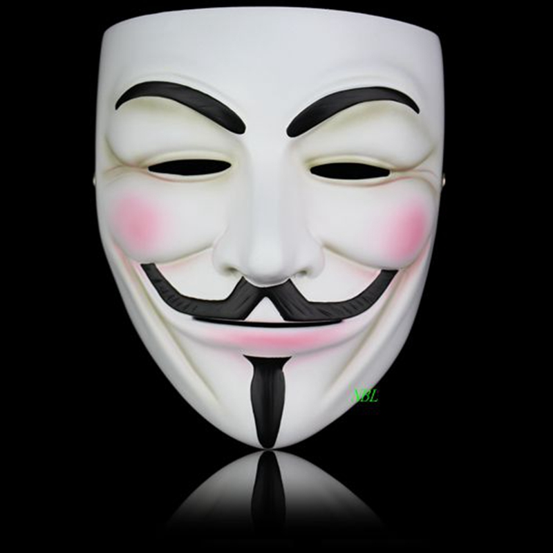 Halloween Masquerade V För Vendetta Mask Full Face Movie Guy Fawkes Tema Anonym Harts Masker Party Props Kostym Vuxen Storlek