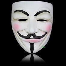 Masque d'halloween V pour Vendetta, masque intégral en résine, thème Fawkes, accessoires de fête, Costume taille adulte