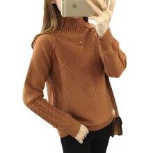 Autumn turtleneck sweater winter warm tops women's long sleeve knitted