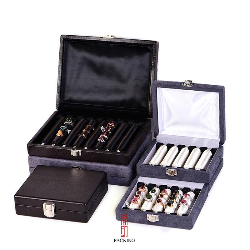 Haut de gamme exposition portable anneau boîte, éponge anneau sac, anneau boîte de stockage d'affichage boîte