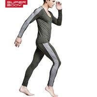 HOT SALE New Cotton Thermal Underwear Sets Mens Long Johns Man Autumn Winter Shirt+Pants Warm Elastic Men Thermo Underwear Set