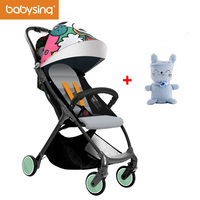 Babysing Lightweight Stroller 1S Fold Portable Traveling Stroller Can Take to Plane & 3D Design With Gift Soft Baby Blanket