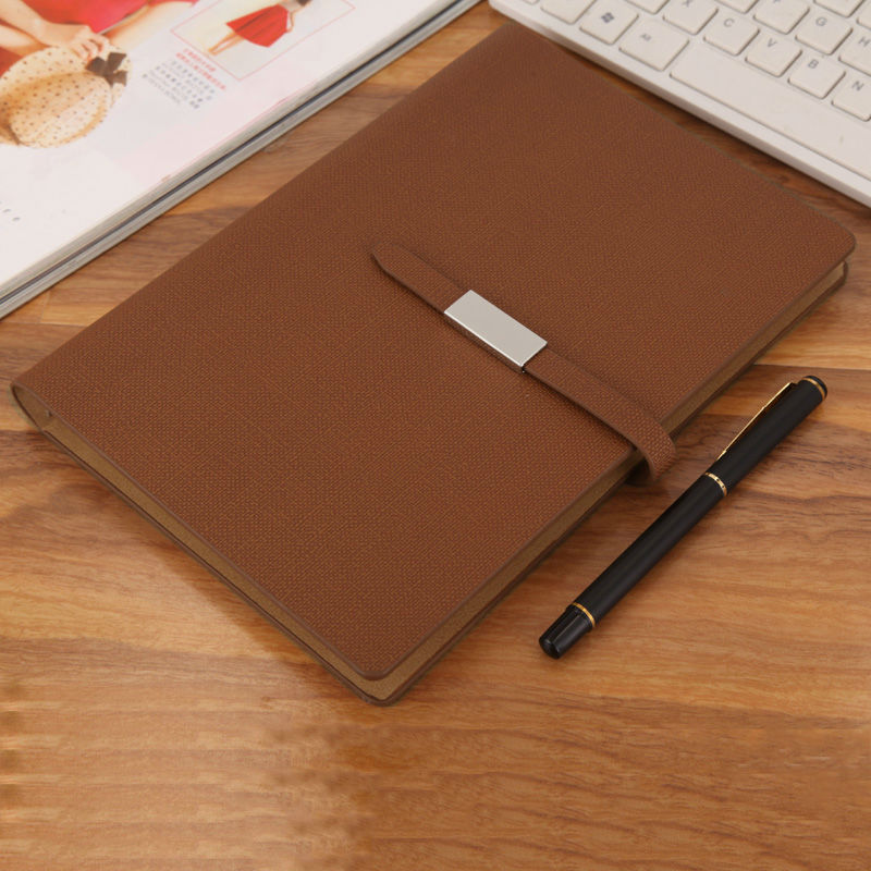 Image 5 - RuiZe Faux leather spiral notebook A5 office planner agenda organizer business stationery loose leaf note book 6 ring binder-in Notebooks from Office & School Supplies