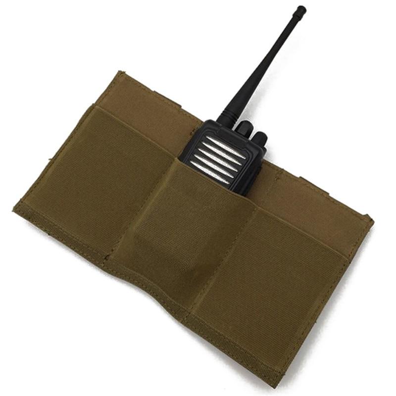 Tactical Molle Bag Pistol 5.56 .223 Triple Magazine Quick Release Pouch Universal Elastic Flashlight Radio Holder Bag For Vest#