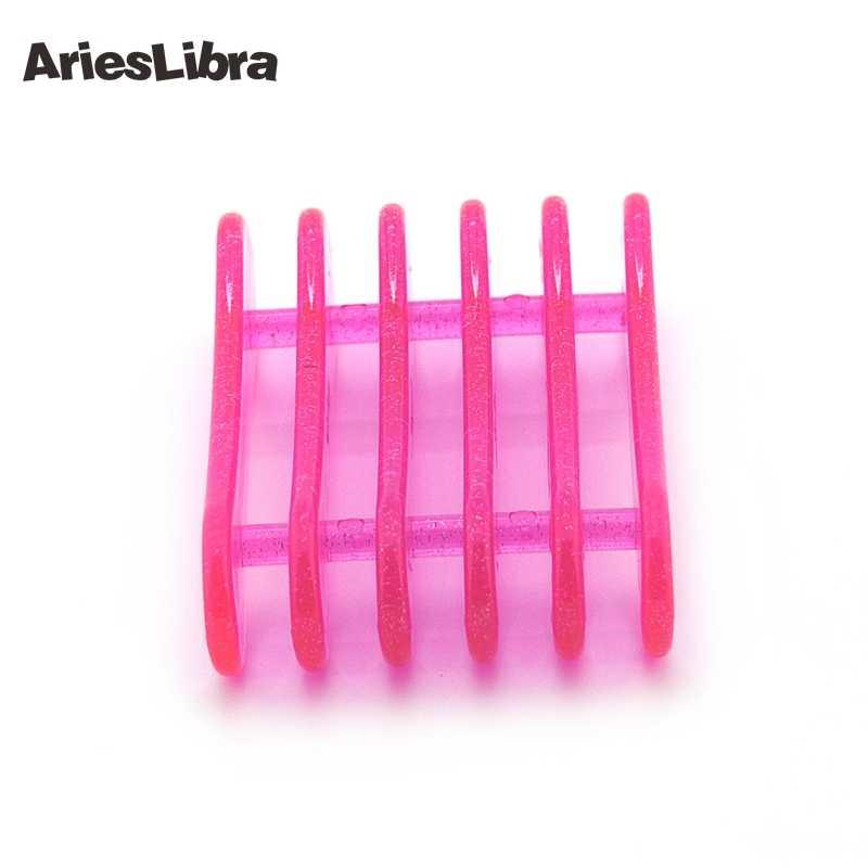 Arieslibra Kuku Pena Pemegang Merah Muda Plastik Kuku Pen Kuku Seni Alat Display Acrylic Gel Sikat Reset Berdiri untuk Dekorasi Kuku