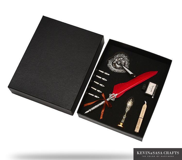 caixa com 5 nib presente de casamento caneta