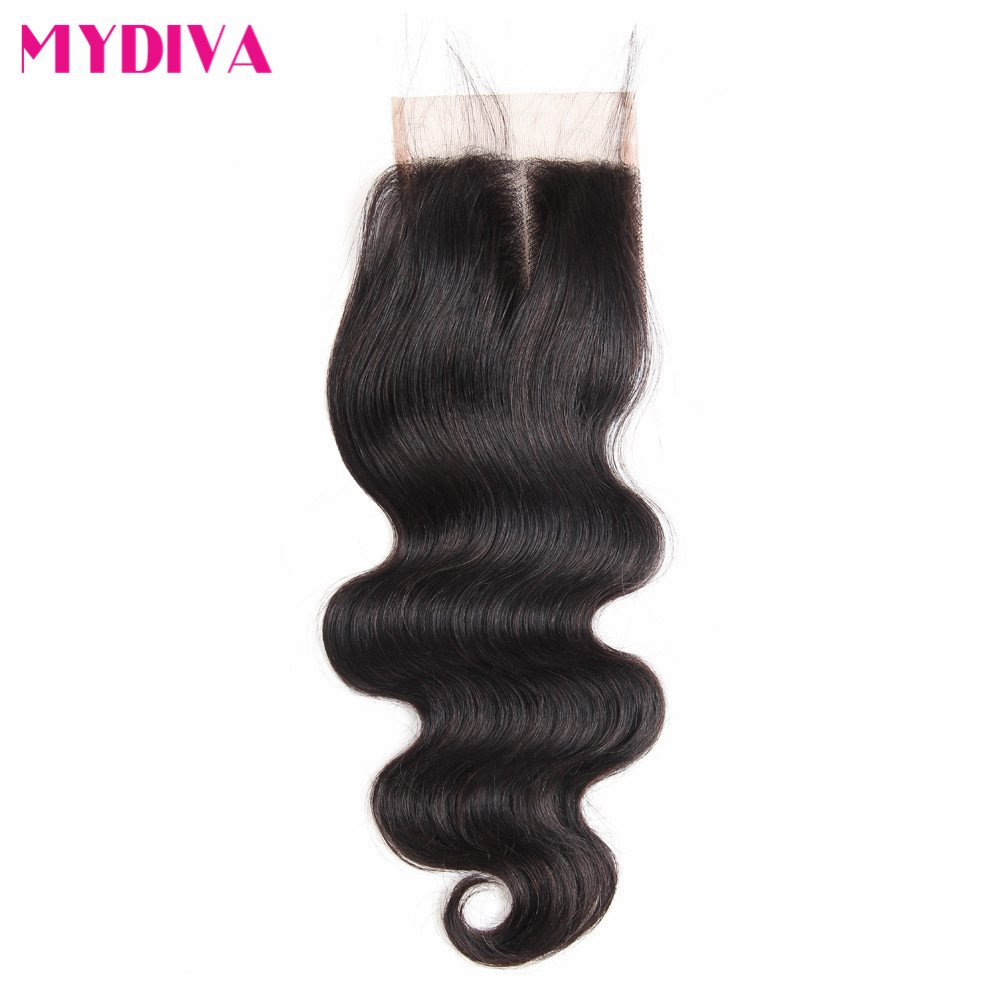 Malaysian Body Wave Hair Lace Closure 4x4 Human Hair Closure With Baby Hair 8-20 Inch Non Remy Hair Natural Color Free Part