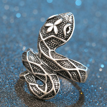 Personality Vintage Snake Ring for Women Men Trend Hyperbole Zinc Alloy Gothic Ring Punk Accessories Bague Homme цена 2017