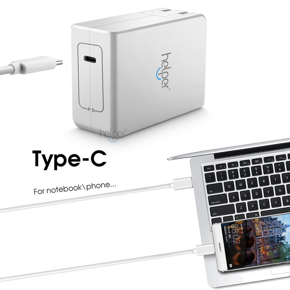 29 W 45 W 65 W USB C Type C chargeur mural adaptateur d'alimentation de charge rapide pour Asus Z580C HUAWEI MateBook Chromebook Pixel Acer