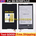 New  S8-50 LCD + touch screen For Lenovo Tab S8 50 S8-50F S8-50L S8-50LC LCD Display +touch screen Digitizer glass lens assembly