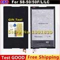 Nova s8-50 lcd + touch screen para lenovo tab s8 50 S8-50F S8-50L S8-50LC Display LCD + touch screen Digitador assembléia lente de vidro