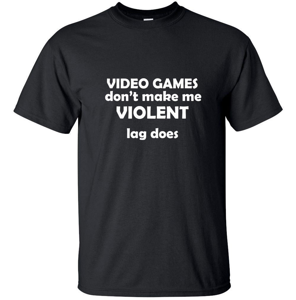 2017 Newest Mens Funny Video Games Dont Make Me Violent. - Funny Adult T-Shirt Black White S-XXL Sizes Cotton T-Shirt