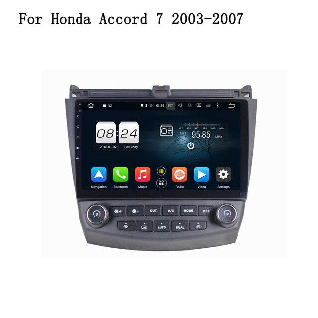 Android 6.0.1 AUTO Speler GPS Navi Multimedia Head Unit VOOR Honda ACCORD 7 2003-2007 Auto Audio Stereo 3G 4G WIFI BT Spiegel Link
