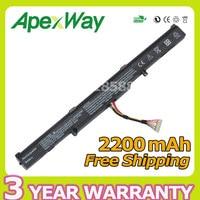 Apexway 2200 мАч 14,8 В ноутбука Батарея для ASUS a41-x550e X450 X550V X450E A450V F450E F450JF F450C A450J X450J серии X751L X751M