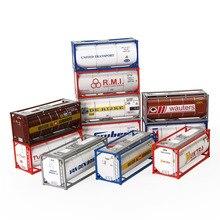 10 шт 20-футовые контейнеры для нефтяных баков, контейнеры для перевозки грузовых автомобилей, масштаб, партия C8723