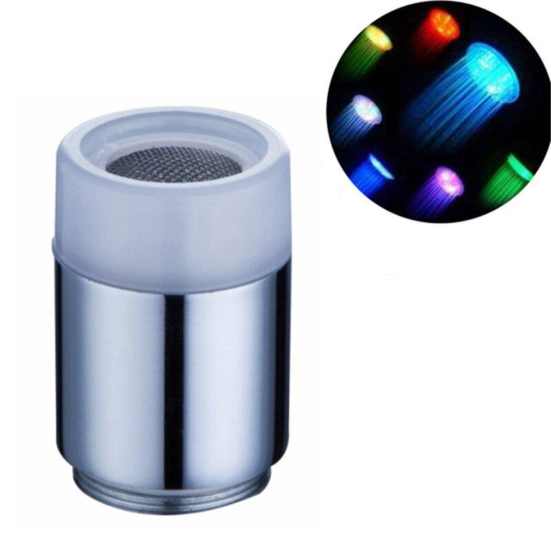 mini tap Nozzle,LED faucet Water Stream Faucet Aerator, Blue Brass LED basin faucet light Spout,1pcs/lot