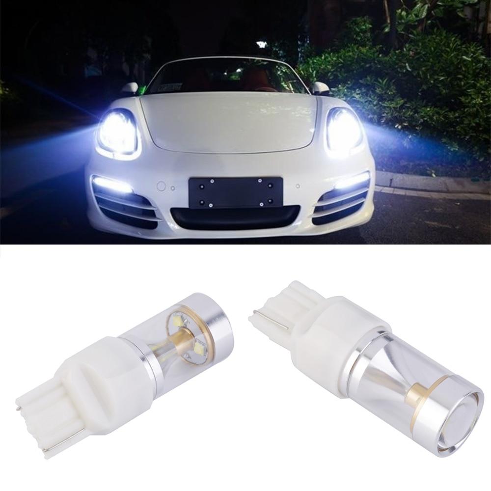 1шт 30W и T20 7440/7443 для Сид с объективом w21w в автомобиля тормозной обратного поворота Сигна lDRL свет автомобиля Источник света Белый Бесплатная доставка