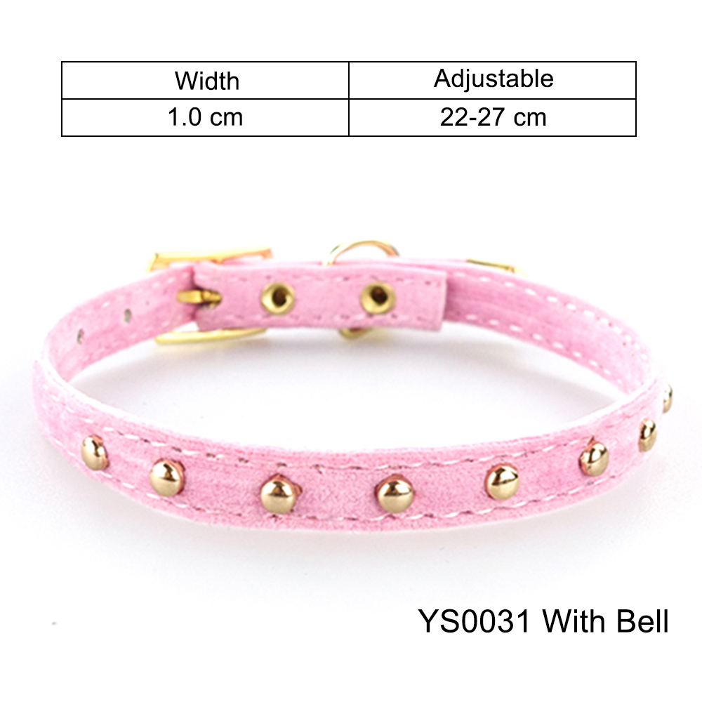 Solid Cat Collar With Bell Safety Cat Collars Adjustable Puppy Dog Collar For Small Dogs Cats Kittens Pet Collar Products YS0032 (15)