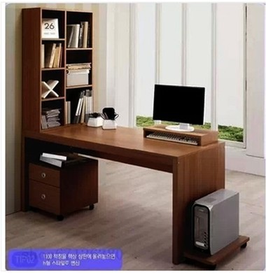 Bag Mail Furniture Double Computer Table Table Household Desk Bookcase  Bookshelf Combined Special Desk Sub Contracted